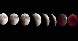 """""""القمر الدموي"""" يبهر العالم"""