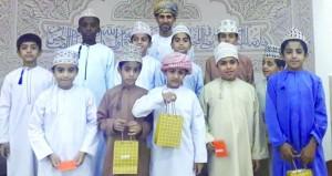تكريم المشاركين في مسابقة حفظ القرآن الكريم بجامع المعين بسمائل