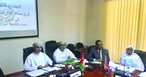 """""""الشؤون القانونية"""" تشارك في اجتماع رؤساء إدارات التشريع بالدول العربية ببيروت"""