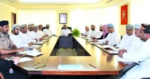 اجتماع مشرفي قطاع إدارة عمليات الإغاثة والإيواء بالمحافظات