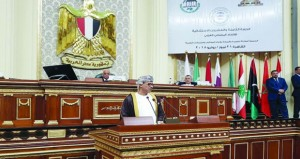 السلطنة تشارك فـي أعمال الدورة الاستثنائية للاتحاد البرلماني العربي