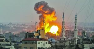 قصف إسرائيلي لموقع المقاومة في غزة بعد تهدئة جديدة بواسطة مصرية وأممية