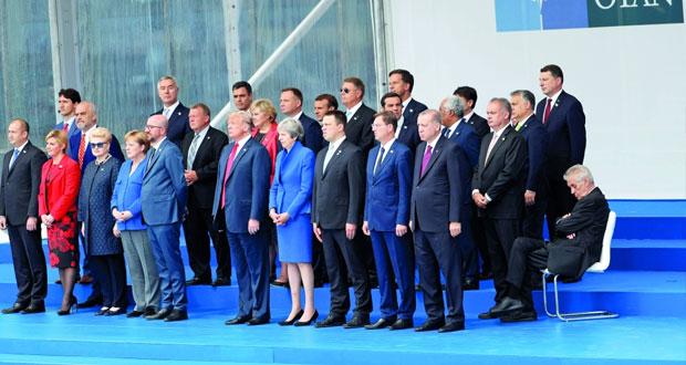 (قمة الأطلسي) : قادة الحلف يسعون لإظهار وحدتهم في مواجهة التهديدات الدولية .. والخلاف حول النفقات يهيمن على النقاشات