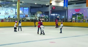 اليوم ختام دورة تدريبية لأطفال التوحد للتزلج على الجليد