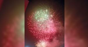 الألعاب النارية تضيء سماء المهرجان احتفاء بـ23 يوليو