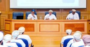 """مكتب """"رؤية عمان 2040″ ينظم لقاء نقاشيا مع أصحاب الأعمال وأعضاء الغرفة"""