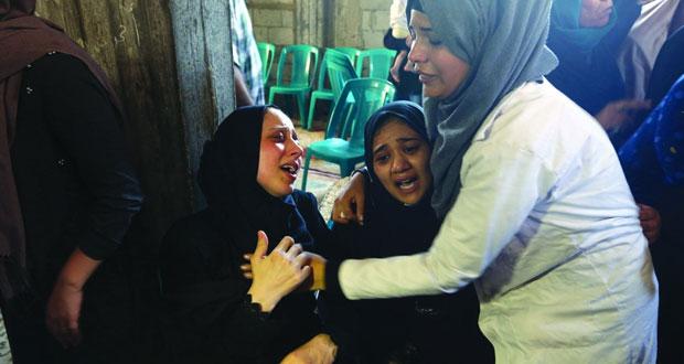 شهيد بغزة والاحتلال يتعمد استهداف الفلسطينيين في أماكن قاتلة