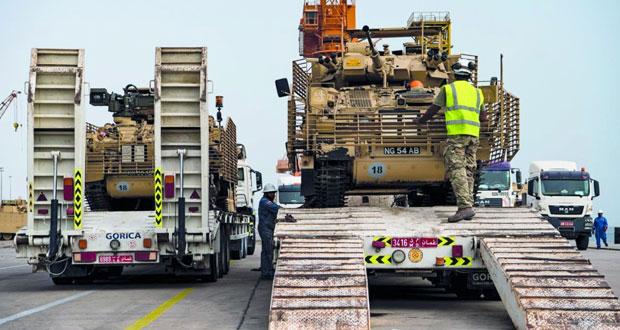 وصول شحنة بحرية جديدة من معدات الدعم اللوجستي للقوات المسلحة الملكية البريطانية لإسناد تمرين السيف السريع/3