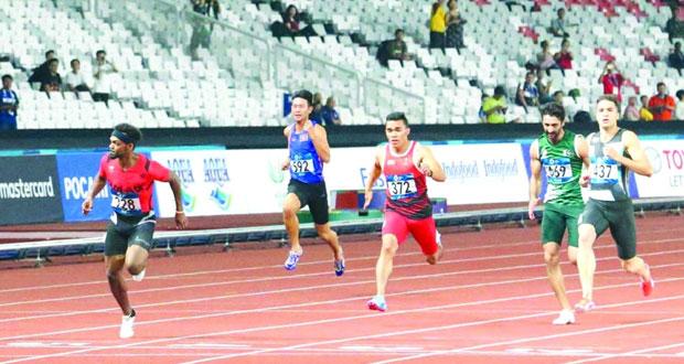 بركات الحارثي يتأهل إلى الدور الثاني لسباق 100 متر