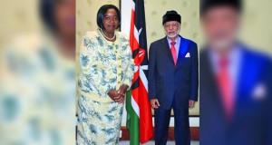يوسف بن علوي يلتقي بوزيرة الخارجية الكينية