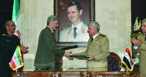 سوريا وإيران توقعان وثيقة للتعاون الدفاعي والتقني