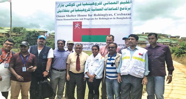 افتتاح المخيم العماني للاجئين الروهينجا في بنجلاديش