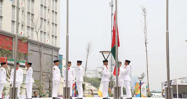 رفع علم السلطنة في دورة الألعاب الآسيوية