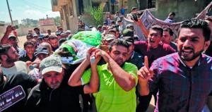 شهيد وجرحى برصاص الاحتلال في غزة .. والجرافات الإسرائيلية تهدم منزلا في الضفة