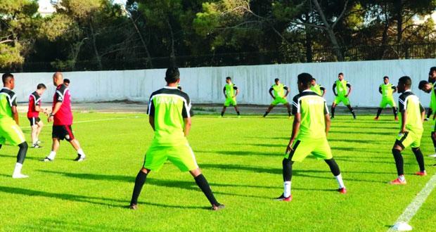 منتخبنا الوطني الأول لكرة القدم يواصل تدريباته المكثفة لمواجه لبنان غدا