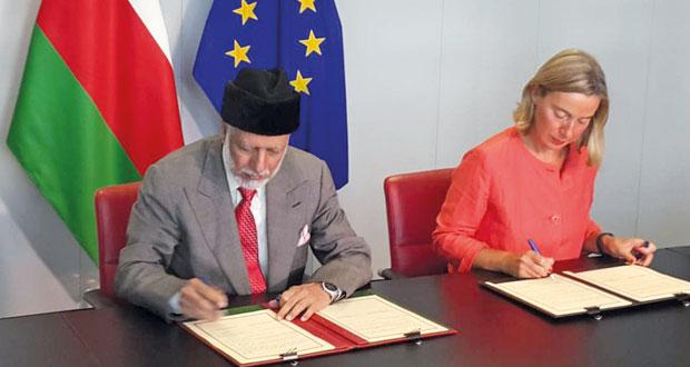 السلطنة والاتحاد الأوروبي يوقعان على ترتيبات التعاون