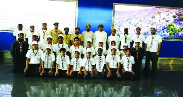 كشافتنا المشاركون في فعاليات المخيم الكشفي العربي الـ (32) بالجزائر يعودون للبلاد