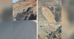 مشروع إمداد طريق الهجرـ بلاد الشهوم بعبري يدخل مراحله النهائية بعد شق عدد من الجبال لمده