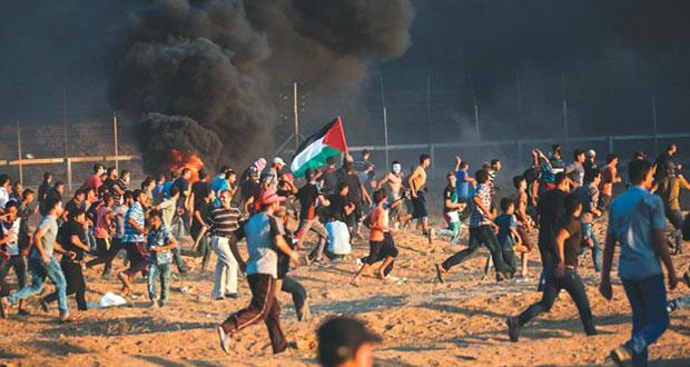 شهيد وجرحى بقمع الاحتلال جمعة (كسر الحصار) بغزة