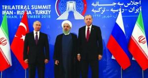 (قمة طهران الثلاثية): إيران تشدد على مكافحة الإرهاب .. موسكو تؤكد أحقية سوريا في استعادة كافة أراضيها وأنقرة تدعو لوقف النار