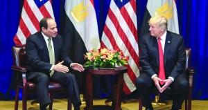 السيسي يبحث مع ترامب في نيويورك قضايا المنطقة والتعاون الثنائي