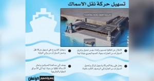 تصميم وإنشاء جسر تحميل السيارات بميناء الصيد البحري