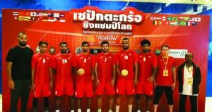 منتخبنا الوطني للسيباكتكراو يحقق الميدالية البرونزية الثانية في مسابقة الكواد في بطولة تايلاند