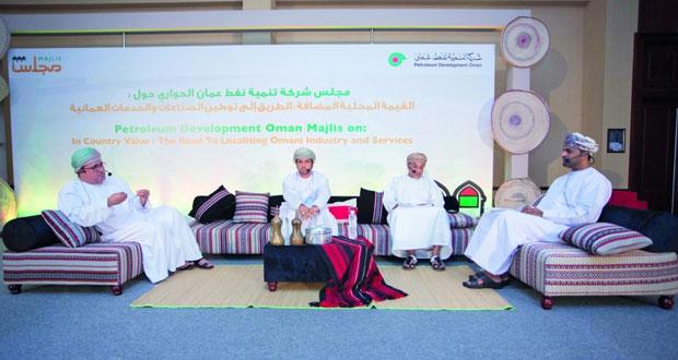 """2.4 مليار دولار إجمالي إنفاق """"تنمية نفط عمان"""" للقيمة المحلية المضافة العام الماضي"""
