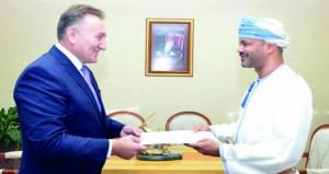 أمين عام وزارة الخارجية يتسلم نسخاً من أوراق اعتماد السفير الكرواتي
