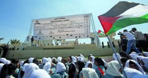 مسيرات فلسطينية رافضة لـ(المؤامرة) ضد الاونروا
