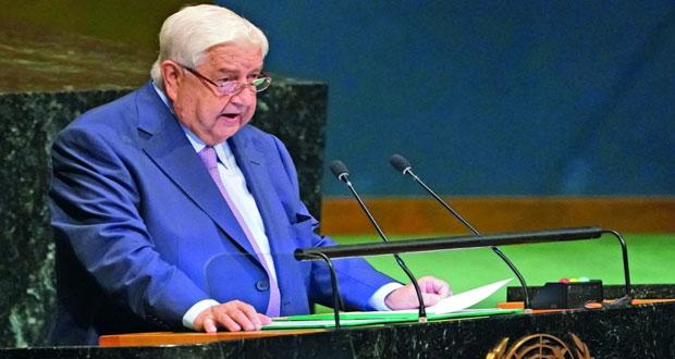 وزير الخارجية السوري: معركتنا ضد الإرهاب شارفت على الانتهاء