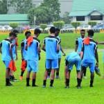 منتخبنا الوطني لناشئي القدم يواصل تحضيراته لملاقاة اليمن غدا وعينه على الفوز
