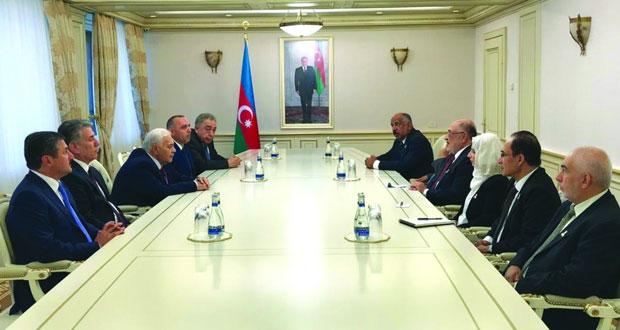 رئيس مجلس الدولة يبحث تعزيز التعاون البرلماني مع اذربيجان