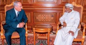 جلالة السلطان يستقبل رئيس الوزراء الإسرائيلي