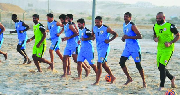 منتخبنا الوطني للقدم الشاطئية يختتم غدا معسكره الداخلي ببوشر استعدادا للبطولة الآسيوية