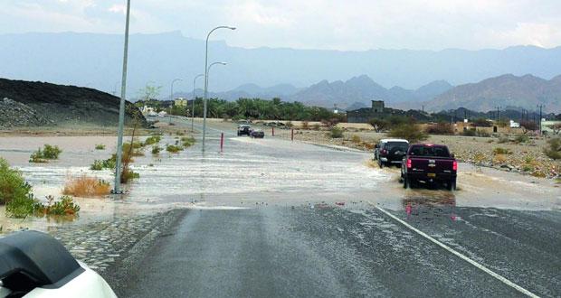 أمطار على عدد من ولايات السلطنة ومحضة تشهد أعلى كمية لهطول الأمطار أمس الأول