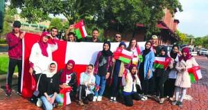 طلبة السلطنة يشاركون في احتفالية للطلبة الدوليين بجامعة (كينت ستيت) الأميركية