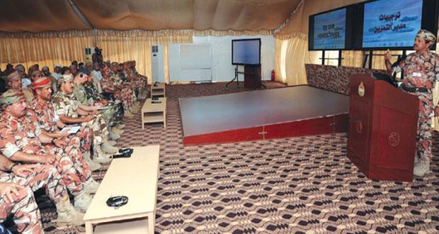 المشاركون يواصلون عمليات المواءمة والاندماج والتمازج وفقا لمفاهيم القوات المشتركة الموحدة
