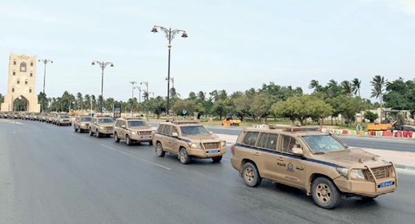 """شرطة عمان السلطانية تواصل استعداداتها للتعامل مع إعصار """" لبان"""""""