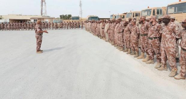 قوات السلطان المسلحة تقدم الإسناد اللازم