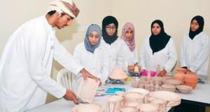 برنامج لتأهيل متدربات في صناعة الفخاريات وإقامة مشروع خاص للحرفة