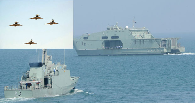 القوتان (الجوية) و(البحرية) تجريان عددا من المهام بـ(الشموخ /2) و(السيف السريع/3)