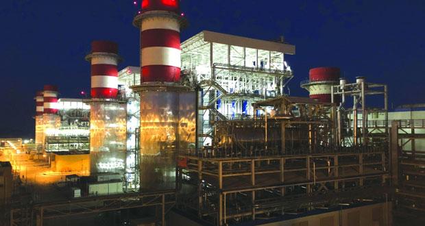 """بدء التشغيل التجاري لمحطة """"صحار3″ لإنتاج الكهرباء في الربع الأول من 2019"""