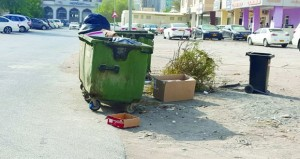 تكدس المخلفات قرب حاويات القمامة .. ظاهرة تبحث عن حل