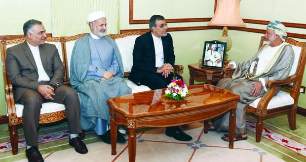 ابن علوي يستقبل وفداً من الخارجية الإيرانية