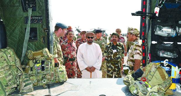 الوزير المسؤول عن شؤون الدفاع يقوم بزيارة ميدانية إلى ميادين تمرين (السيف السريع /3)