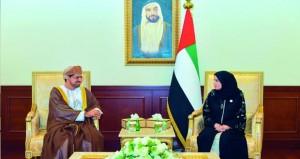 رئيسة المجلس الوطني الاتحادي بدولة الامارات تستبقل سفير السلطنة