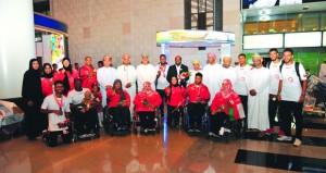 استقبال حافل لأبطال السلطنة لذوي الإعاقة المشاركين في دورة الألعاب البارالمبية