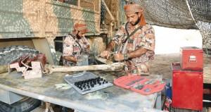 دوائر ووحدات (الدفاع) وأسلحة الإسناد تمضي في إدامة الإمكانات لـ (السيف السريع/3)