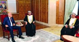 وزير الشؤون الرياضية يستعرض مجالات التعاون مع رئيس اللجنة الأولمبية الفلسطينية